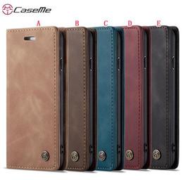 Etui en cuir Caseme pour Iphone XR X XS Max 8 7 6 6S Plus 5 5S SE Coque magnétique Samsung Galaxy S10 S10E A20 A40 Huawei P30 Pro P Smart 2019 en Solde