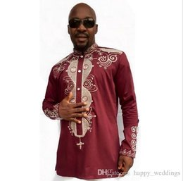 $enCountryForm.capitalKeyWord Australia - 18ss African Clothing African Dashiki Traditional Maxi Man African Stand Collar Long Sleeved Long Sleeves Shirt Plus Size