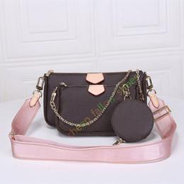 Meilleures vente de sacs d'épaule de sac à main de mode sac à main sacs de téléphone portefeuille de sac à main trois pièces sacs combinaison shopping gratuit en Solde