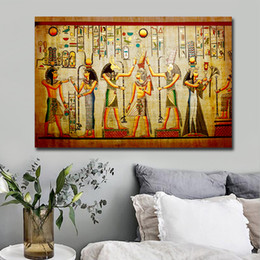 $enCountryForm.capitalKeyWord Australia - 1 Pcs Retro Egypt Style Figure Painting Canvas Posters and Prints Wall Art Paintings Custom Photo Pictures For Cuadros Decor No Frame