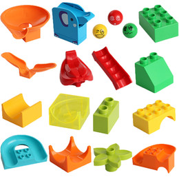 plastic building blocks toys big Australia - Large Particle Building Block Big Size DIY Construction Blocks Bricks Slide Bulk Parts Accessories Toy for Children Kids Gift