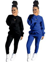 $enCountryForm.capitalKeyWord UK - Womens long sleeve outfits 2 piece set tracksuit jogging sportsuit hoodie legging sportswear sweatshit tights sport suit hot klw0019