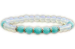 $enCountryForm.capitalKeyWord Australia - 12pcs lot Turquoise jewelry Turquoise bracelet Moonstone bracelet Mother day gift for grandma women mom birthday her nurse