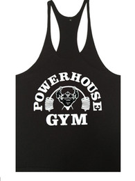 Wholesale 2019 New Brand bodybuilding stringer tank top men musculation vest gyms clothing and fitness men undershirt