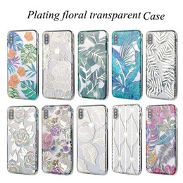 pro plates Australia - Gold leaf Transparent Plating Floral Leaves Colorful Electroplate Soft TPU Case Back Cover For New iPhone 2019 11 Pro XR XS MAX X 6 7 8 Plus