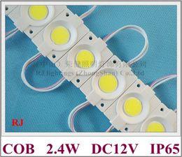 rond module de LED module de rétro-éclairage de la lumière arrière de la lampe à LED DC12V 2.4W 240lm COB IP65 CE ROHS 46mm (L) * 30mm (W) * 3mm (H)
