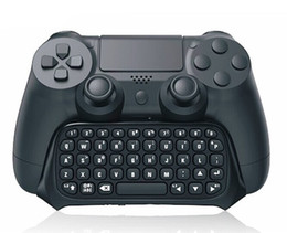 $enCountryForm.capitalKeyWord UK - Wireless Bluetooth Chatpad Message Keyboard for Sony for PlayStation 4 for PS4 Controller Black
