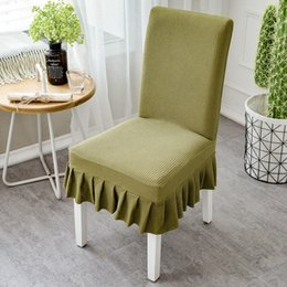 $enCountryForm.capitalKeyWord Australia - Knitted Household Elastic Conjoined Dining Chair Cushion Set Simple Hotel Stool Set Dining Table Chair Cover General for Home