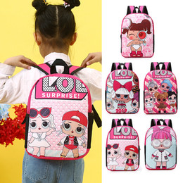 Cute anime baCkpaCks online shopping - Cartoon Grils Doll Backpack Children Lovely Anime Student School Shoulder Bag Cute Kids Outdoor Travel Printed Bags TTA1356