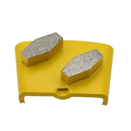 ground blocks NZ - KD-H60 Top Quality HTC Diamond Grinding Shoes Diamond Grinding Blocks with Two Segments for Concrete Floor Renovation
