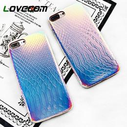 Coque Iphone Luxury NZ - Luxury Crocodile Grain Shining Laser Phone Case For Iphone 6 6 Plus 7 8 Plus X Soft Leather Back Cover Coque Fundas
