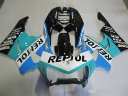 cbr919 fairings UK - 7gifts fairings for Honda CBR900RR CBR919 1998 1999 green black blue white fairing kit CBR919RR 98 99 QW23