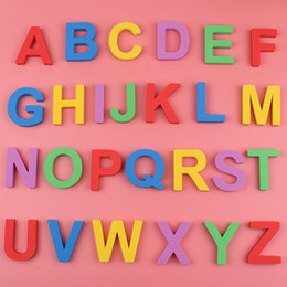 $enCountryForm.capitalKeyWord NZ - 26Pcs EVA Letter Fridge Magnet Uppercase Lowercase Kids Early Education Words Spelling Teaching Refrigerator Magnets Sticker Educational Toy