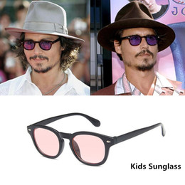 color tinted sunglasses 2019 - Magic Adventure Johnny Depp Kids Glasses Tinted Glasses Boys Sun Girls Retro Red Sunglasses for Children okulary oculos