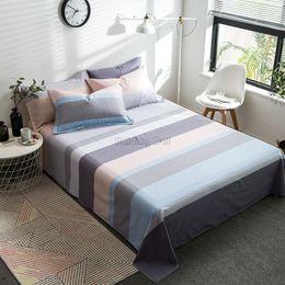 $enCountryForm.capitalKeyWord Australia - Modern Coffee Stripes Flat Sheet Sets 100% Cotton Fabric Bedding Set Bed Linen 120*230cm,160*230cm,180*130cm,200*230cm,230*250cm