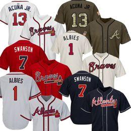 f5584405 Mens Atlanta 2019 Ronald Acuna Jr. Jr Grand Tall Braves Jersey Taille  XS-6XL Ozzie Albies Josh Donaldson Freddie Freeman