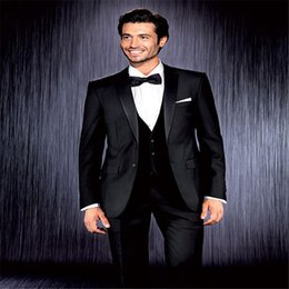 $enCountryForm.capitalKeyWord NZ - New Arrival 3 Suit Style For Man Clothes Black Notched Lapel Groom Tuxedos Groomsman Suit Tailored Man Suit(jacket+Vest+pants)