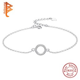 sterling silver coral bracelet Australia - Genuine 925 Sterling Silver Love Heart Infinity Bracelets & Bangles for Women Femme Chain Bracelet Wedding Party Jewelry Gift