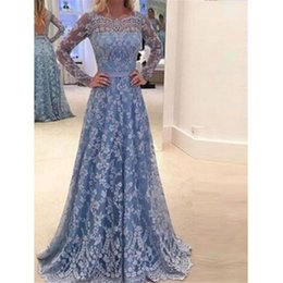 Discount high empire waist evening gowns - Women Formal High Waist Sexy Backless Dresses Empire Waist Blue Evening Party Ball Prom Gown Long Maxi Dress Lace Flower