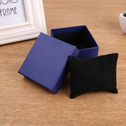 Black Paper Storage Boxes Australia - 3 Colors luxury Watch Box paper Jewelry Wrist Watches Holder Display Storage Box Organizer Case Gift with pillow
