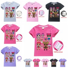 77f0872bd Kid Surprise Girl T Shirt Summer Cotton Tees Round Neck Short-Sleeved T-Shirt  Boys Children Outwear Top Clothing 80pcs AAA1982