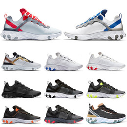 $enCountryForm.capitalKeyWord Australia - Hot 2019 Fashion React Element 55 Mens Women Running Shoes Taped Seams Blue Red Gold Navy Escape Pack Game Royal Mens Trainers Sneakers
