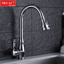 Kitchen Tap Pull Out Swivel Australia - Hot Sale Kitchen Faucets Silver Single Handle Pull Out Kitchen Tap Single Hole Handle Swivel 360 Degree Water Mixer Tap
