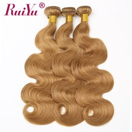 Hair extension 27 pcs online shopping - Honey Blonde Color Body Wave Hair Extensions Colored Peruvian Human Hair Weave Bundles Remy Hair Wefts Products