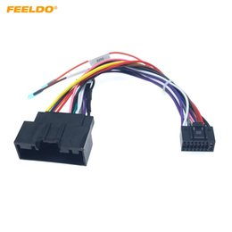 stereo adaptor NZ - FEELDO Car Audio 16PIN Adaptor Wiring Harness For Ford Focus 2015+ Power Calbe Stereo Install Aftermarket Wire Plug #2329