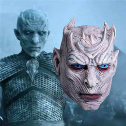 Halloween Games For School Australia - Movie Game of Thrones Night King Mask Halloween Realistic Scary Cosplay Costume Latex Party Mask Adult Zombie Props