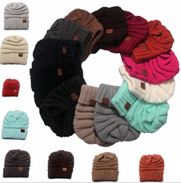 fb86265228a New Luxury Women Men Winter Knitted Wool CC Hats Caps Label Warm Skullies  Beanies Unisex Adult Casual Hat Sport Casual Cap 13 Colors