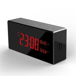 Опт 4K HD ИК ночного видения WIFI будильник камера Беспроводные часы видеорегистратор Макс 128G