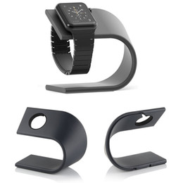 Ingrosso U Tipo in lega di alluminio Caricatore Supporto di ricarica Supporto Dock Station Staffa per Apple Watch Series 1 2 3 4 Supporto da tavolo in metallo Stand Cradle