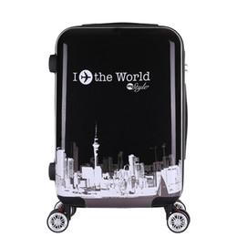 e4d1062fb estuche de viaje con contraseña de bloqueo de rueda universal mudo, bolsa  de equipaje de viaje versátil, caja de trolley de moda conveniente rueda,  ABS + PC