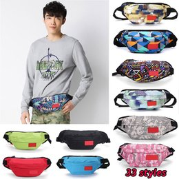 Discount backpack materials - Sup waist Bags fanny pack 33 styles fashion casual letter Messenger bag shoulder bag canvas material pockets backpacks J