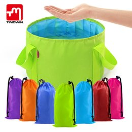 Discount sink bowls - 15L Collapsible Portable Outdoor Travel Foldable Folding Camping Washbasin Basin Bucket Bowl Sink Washing Bag Water Buck