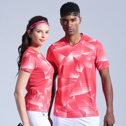 Sportswear T Shirt Badminton Australia - Tennis Shirts Men Women Outdoor Sports Clothing Badminton Shirts Short Sleeves Running Workout T-shirt Breathable Sportswear