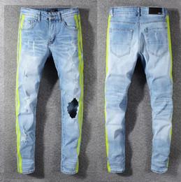 Mens Long Cotton Trousers Australia - 2019SS Mens Holes Jeans Men Hip hop Holes biker Jeans Denim Pants Casual Slim fit Cotton Long Trousers Size 28-40