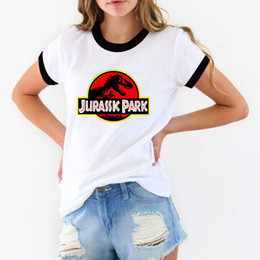 Printed Tees Australia - Hot Sale Jurassic Park 3d Print T Shirt Women Funny Harajuku Female T-shirt Hipster Cool Tshirt White Short Sleeve Tops Tees Y19042702