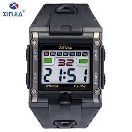$enCountryForm.capitalKeyWord Australia - Xinjia Fashion Leisure Mens Watches Top Brand Luxury Waterproof Luminous Digital Watch Classic Tricolor Resin Material Xj-852 MX190716