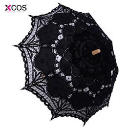 $enCountryForm.capitalKeyWord Australia - Vintage Victorian Black Lace Manual Opening Wedding Umbrella Bride Parasol For Wedding Bridal Shower Umbrella Free