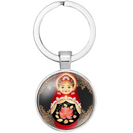 Russia Coin Australia - MIXED ETHNIC STYLE RUSSIA BABY CUTE PENDANTS KEYCHAIN KEYRING AWESOME KEY ACCESSORY KEY CHAIN KEY RING CABOCHON PRECIOUS STONE BAG ACCESSORY
