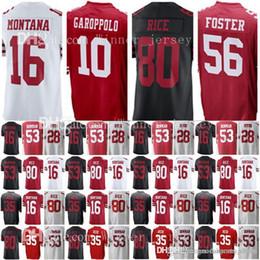 2dd890afa San Francisco 10 Jimmy Garoppolo 49er 16 Joe Montana 80 Jerry Rice Jersey  56 Reuben Foster 35 Eric Reid 53 NaVorro Bowman Jerseys