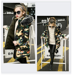 Winter Wear For Girl Child Australia - good qulaity winter children warm thick outerwear fashion style girls coats jackets casual camouflage down parkas for bebe snow wear