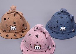 little stars baby wholesale Australia - 2019 Latest M Little Star Children's Basin Hat Autumn New Children's Cap Thick Baby Hat Fisherman's Hat