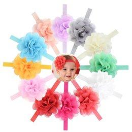 Babies Hair Wearing Headbands Australia - 12 Color Baby Girl Elastic Hairband Children Hair Wear For Kids Head Band Flower Headband Baby Hair Accessories 721
