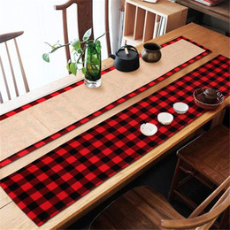 $enCountryForm.capitalKeyWord Australia - Christmas Place Mat Table Mat Christmas Decoration Supplies Restaurant Dining Decoration Plaid Cloth Linen Table Mat