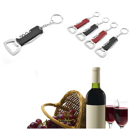 hot bar Australia - hot Keychain Beer Bottle Opener Stainless Steel Multifunctional Handle Openers Creative Gift Wine bar Kitchen Fashion AccessoriesT2I5454