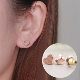 1302a6442 Gold Plated Heart Screwback Baby Girls Earrings gift for women and girls  fashion gift