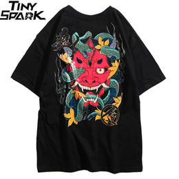 Cotton Embroidery Backing Australia - 2019 Hip Hop T Shirt Men Snake Ghost T-shirt Harajuku Streetwear Tshirt Cotton Short Sleeve Summer Tops Tee HipHop Back Printed